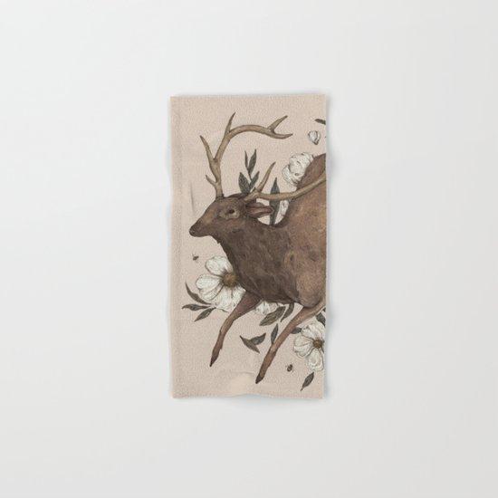 Floral Elk Hand & Bath Towel