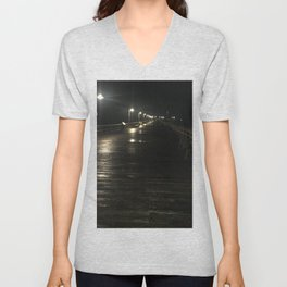 A walk alone Unisex V-Neck
