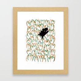 Jungle Dinosaur Framed Art Print