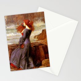 Miranda by John William Waterhouse  Stationery Cards