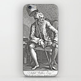 Radical Journalism - Engraving of John Wilkes - 18th Century  iPhone Skin