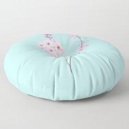 Cherry Blossoms Floor Pillow