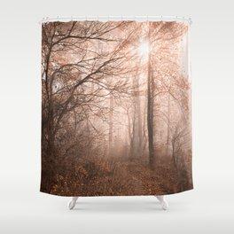 Misty Sun Kissed Trail Shower Curtain