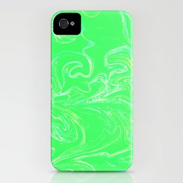 Neon green abstract iPhone Case
