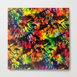 Vivid Psychedelic Hippy Tie Dye Metal Print