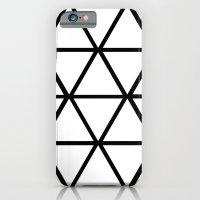 WHITE & BLACK TRIANGLES  Slim Case iPhone 6s