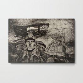 Mining Tribute Antique 1 Metal Print