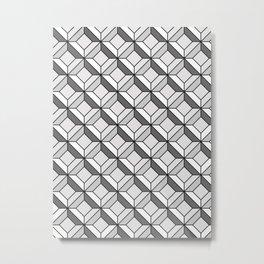 Squares in Gray Metal Print