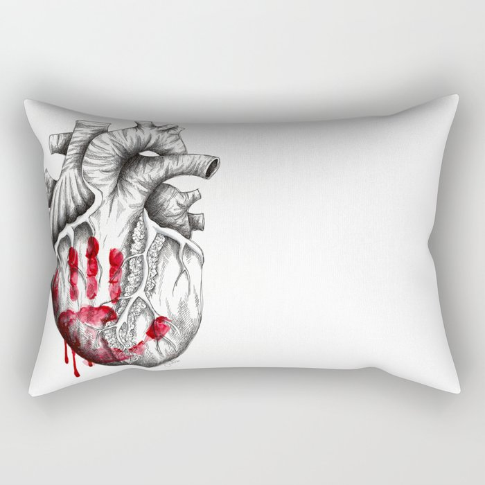 don't touch without feeling me Rectangular Pillow