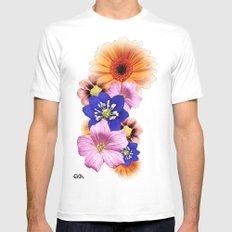 Flower Power. MEDIUM Mens Fitted Tee White
