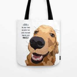 Golden Retriever Love Tote Bag