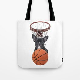 Sports Basket Ball - French Bulldog Tote Bag