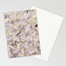 Vintage Marble Art Deco Pattern Stationery Cards