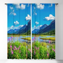 God's Country - Summer in Alaska Blackout Curtain