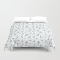 ships Duvet Covers featuring ships by Dlinnaya