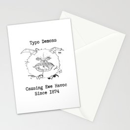 Typo Demons Stationery Cards
