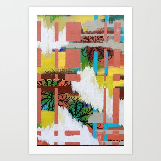 """cloudy color"" Art Print"