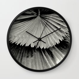 Tropical leaves 2 Wall Clock
