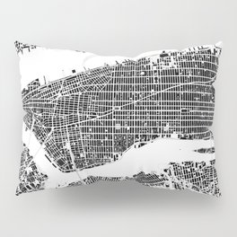 New York city map black and white Pillow Sham