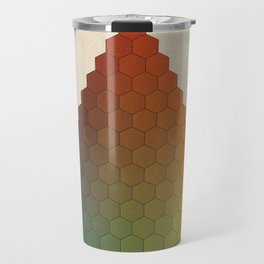 Lichtenberg-Mayer Colour Triangle vintage variation, Remake of Mayers original idea of 12 chambers Travel Mug