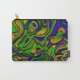 Peppy abstract Art Deco B Carry-All Pouch
