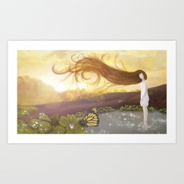 Glazing in autumn sun Art Print