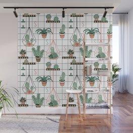 Modern Succulents Wall Mural
