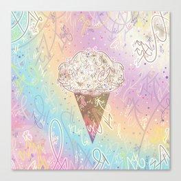 Magical Vanilla Ice Cream Canvas Print