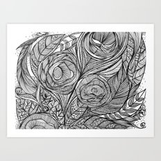 Garden of fine lines Art Print