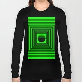Abstract Green 101 Long Sleeve T-shirt
