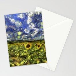 Summer Sunflowers Van Gogh Stationery Cards