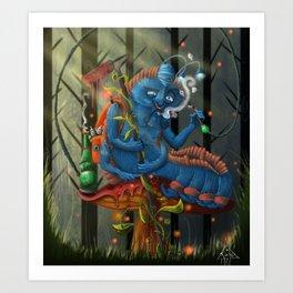 Oruga azul  Art Print