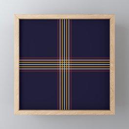 Filigree Retro Colored Lines Framed Mini Art Print