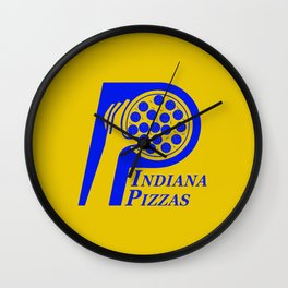 Indiana Pizzas Wall Clock