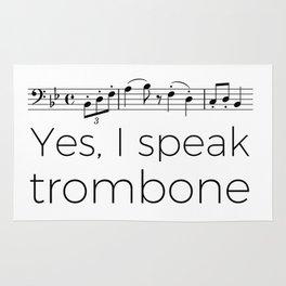 I speak trombone Rug