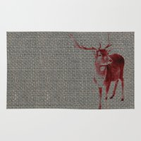 stag Area & Throw Rugs featuring Stag by Axiomatic Art
