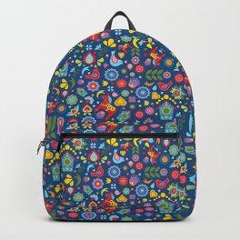 Swedish Folk Art Garden Backpack