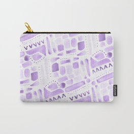 Watercolor Pattern Play in Purple Carry-All Pouch