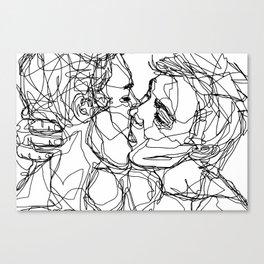 Boys kiss too Canvas Print