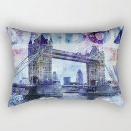 London Tower Bridge Mixed Media Art Rectangular Pillow