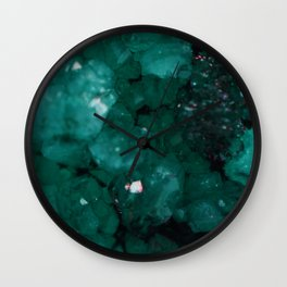 Emerald Drusy Wall Clock