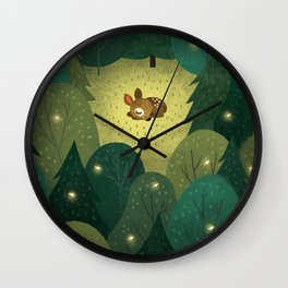 Enchanted Forest Baby Fawn Wall Clock