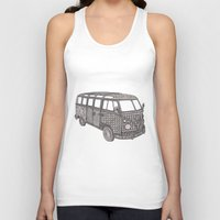 vw bus Tank Tops featuring Tangled VW Bus - side view by Cherry Creative Designs