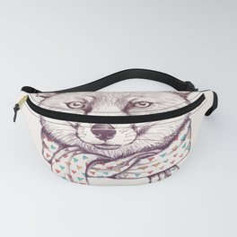 Fox and scarf Fanny Pack