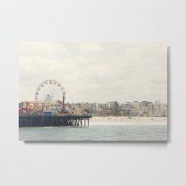 Santa Monica Pier. Happy Birthday Pacific Park!  Metal Print