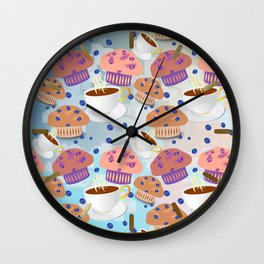 Muffins and Coffee Wall Clock