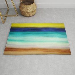 beach abstract Rug