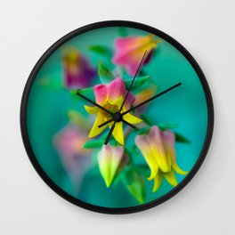 A conscientious and  unpretentious Agapanthus getting anxious to leave Kansas... Wall Clock