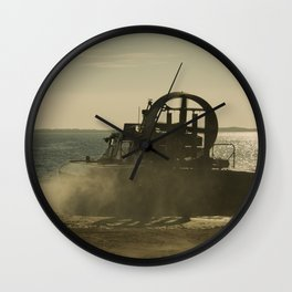 Hovercraft gold Wall Clock