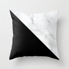 Marble, Stone, Color Block, Minimal Art Throw Pillow